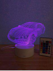 3D Car Shaped 3 Color Change Mini Table Lamp -