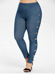 Plus Size Grommets Embellished Jeggings -