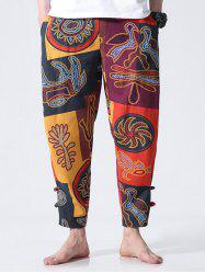 Ethnic Style Print Nine Minutes of Jogger Pants -