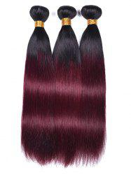 Ombre Straight Human Hair Weaves -