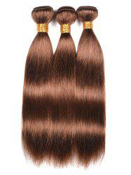 3Pcs Human Hair Straight Hair Weaves -