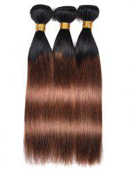 Human Hair Ombre Straight 3Pcs Hair Weaves -