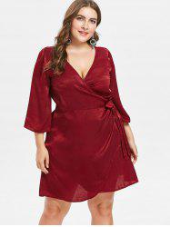 Plus Size Mini Wrap Dress -