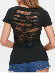 Lace Panel Ripped Tee -