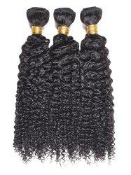 3Pcs Kinky Curly Human Hair Wefts -