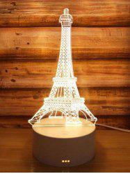 3D Eiffel Tower 3 Color Changing Table Desk Lamp -