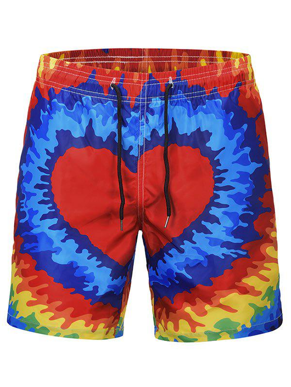 Best Heart Print Quick Dry Swim Short