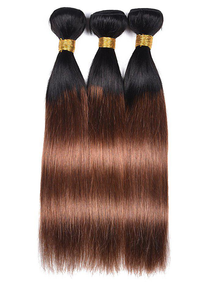 Fashion Human Hair Ombre Straight 3Pcs Hair Weaves