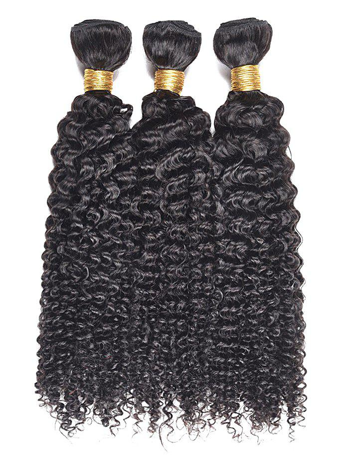 Online 3Pcs Kinky Curly Human Hair Wefts