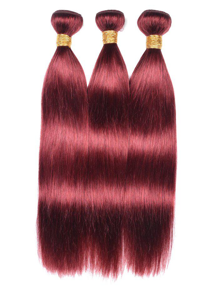 Chic Real Human Hair Straight 3Pcs Hair Wefts