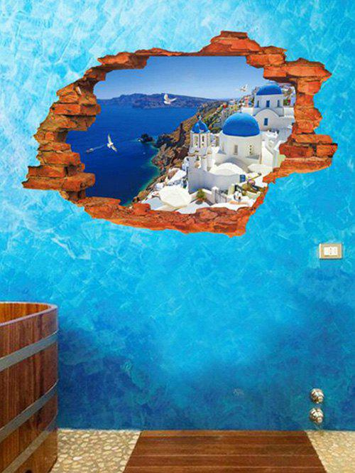 Discount 3D Santorini Island Pattern Removable Wall Sticker