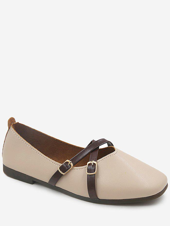Affordable Casual Flat Heel Crisscross Daily Shopping Flats