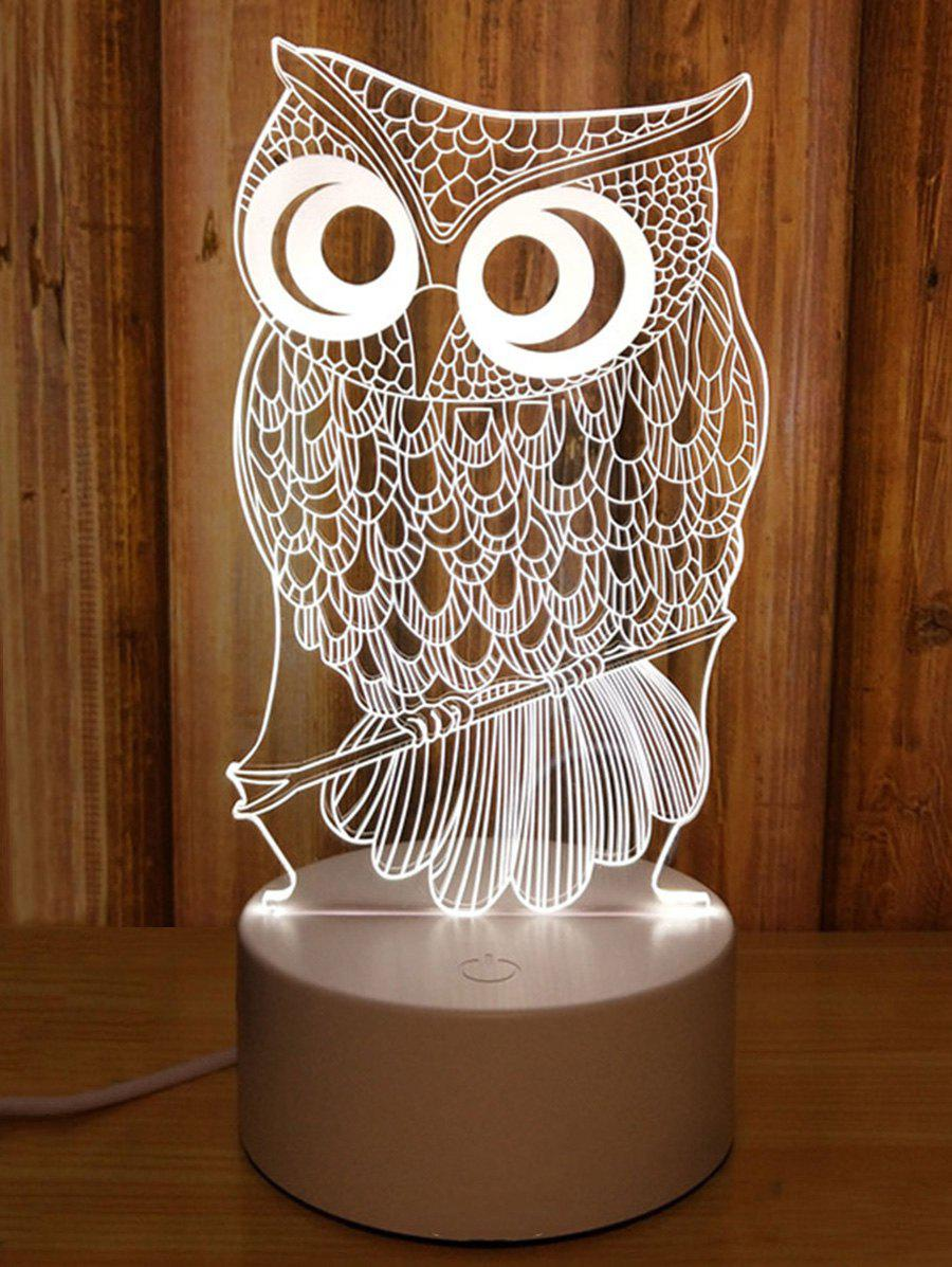 3D Owl 3 Color Changing Table Desk Lamp 272150801