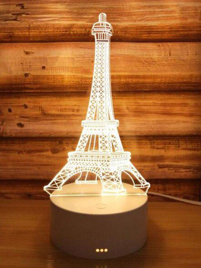 3D Eiffel Tower 3 Color Changing Mini Table Lamp 272132601