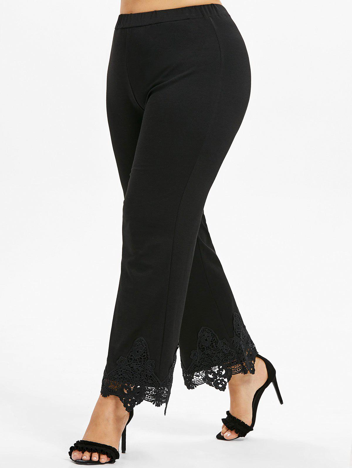 Unique Plus Size Crochet Wide Leg Pants