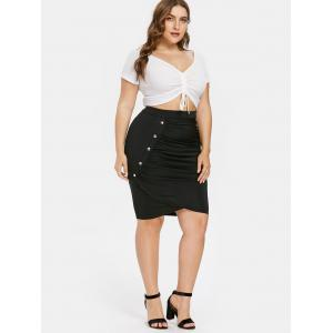 Plus Size Knee Length Tulip Skirt -