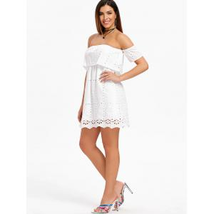 Hollow Out Elastic Off The Shoulder Dress -