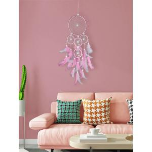 5 Circle Feather Beads Dreamcatcher Hanging Ornament Gift -