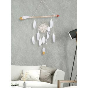 Floral Lace Feather Bead Decorated Home Decor Dreamcatcher -