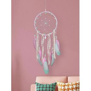 Bead Lace Feather Decorated Dreamcatcher Craft Gift -