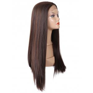 Long Free Part Straight Synthetic Lace Front Wig -