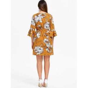 Layered Bell Sleeve Floral Dress -
