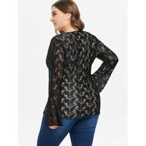 Plus Size Lace Sweetheart Neck Top -