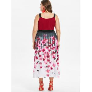 Plus Size Flower Empire Waist Dress -