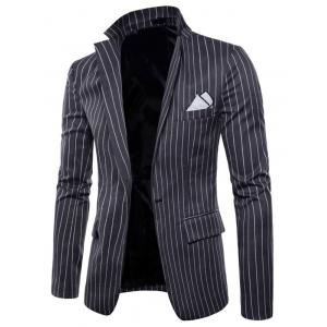 One Button Lapel Stripe Blazer -