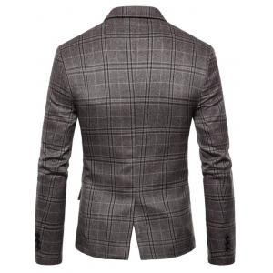 Check One Button Slim Fit Blazer -