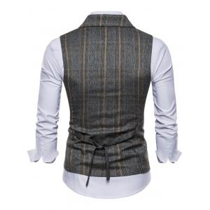 Double Breasted Plaid Edging Waistcoat -