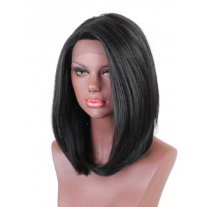 Medium Side Bang Straight Lace Front Synthetic Wig -
