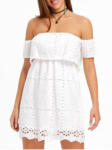 Latest Hollow Out Elastic Off The Shoulder Dress
