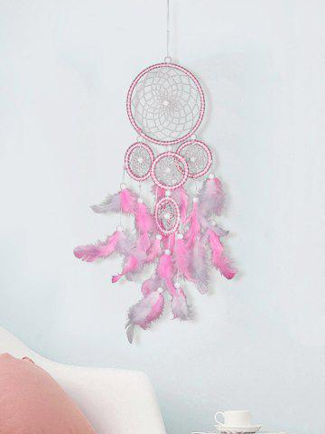 Fancy 5 Circle Feather Beads Dreamcatcher Hanging Ornament Gift