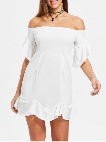 Outfits Off The Shoulder Mini Mermaid Dress