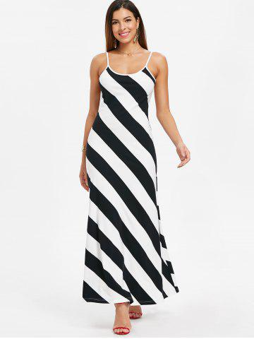 Open Back Striped Dress