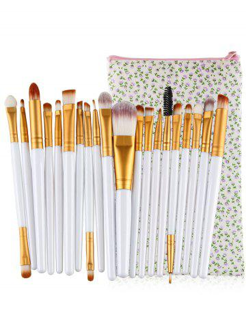 Ensemble de 20Pcs Ultra Soft Fondation Ombre à paupières Fard à paupières Concealer Brush Collection