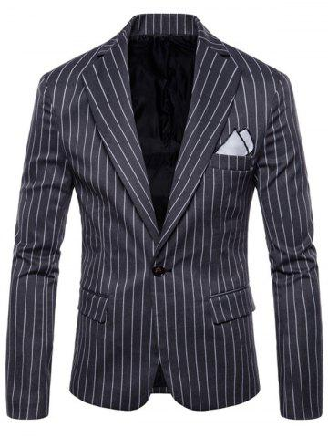 Store One Button Lapel Stripe Blazer