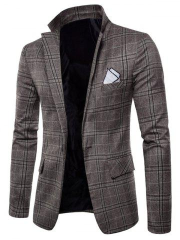 Chic Check One Button Slim Fit Blazer