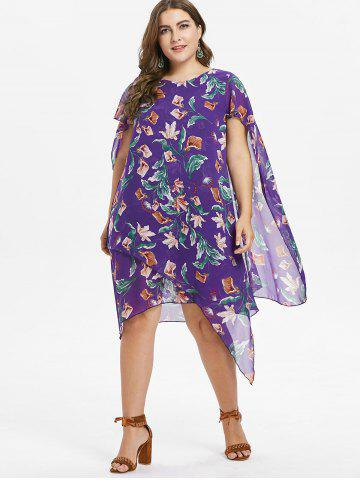 Plus Size Flower Capelet Dress