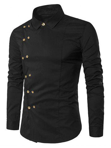 Long Sleeve Double-breasted Shirt