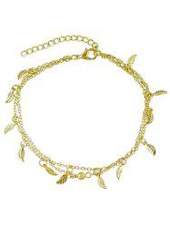 Leaves Decoration Layered Chain Anklet -