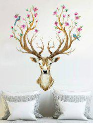 3D Sika Deer Pattern Removable Wall Sticker -