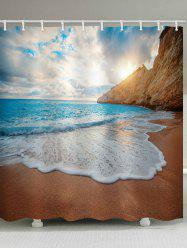 Beach Fine Day Print Waterproof Bathroom Shower Curtain -