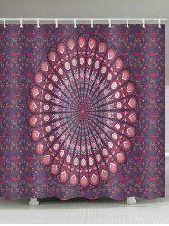 Mandala Flower Print Waterproof Shower Curtain -