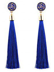 Floral Long Tassel Dangle Drop Earrings -