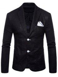 Solid Color Lapel Thin Casual Blazer -