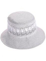Anti UV Wide Brim Lace Bucket Hat -