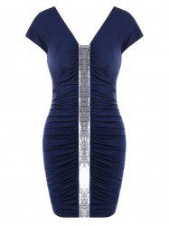 Sequins Bodycon Ruched Dress -