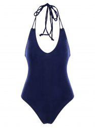 Backless Lace Up One Piece Swimwear -
